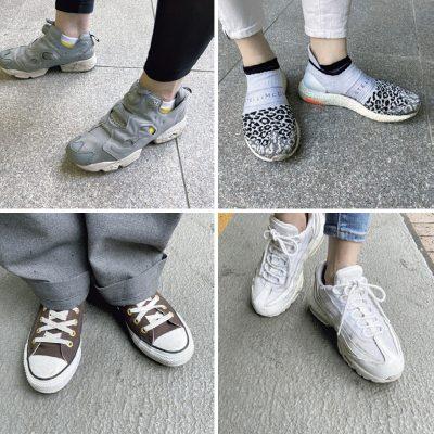 【足元SNAP】習い事待機ママは「靴下×スニーカー」コーデでオシャレに
