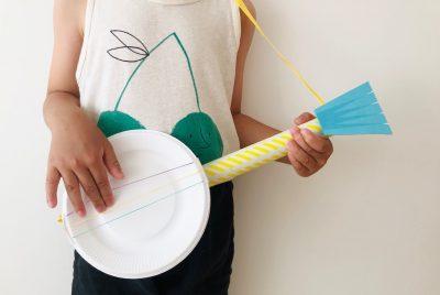 【超簡単】紙皿と輪ゴムで作るギターが楽しすぎる!