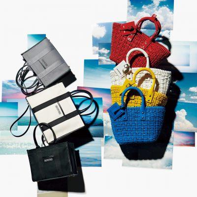 夏に持ちたい!「バレンシアガ」のかごバッグとキャンバスバッグ