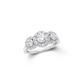 「グラフ アイコン」スリーストーン ラウンド ダイヤモンドリング