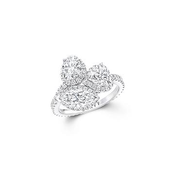 「ザ グラフ アイコン」スリーストーン マルチシェイプ ダイヤモンドリング