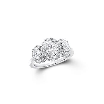 「ザ グラフ アイコン」スリーストーン オーバルシェイプ ダイヤモンドリング
