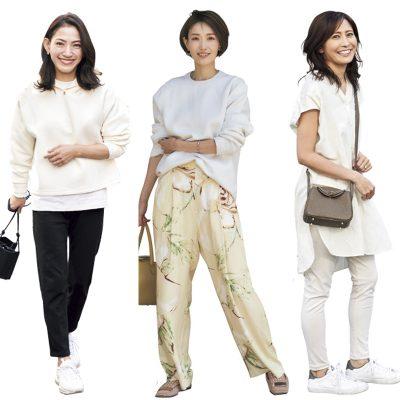 【ユニクロSNAP】乳幼児ママの鉄板は「白スウェットと白シャツ」をきれいめに着る!