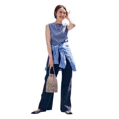 腰回りが気になるなら「腰巻きシャツ」くすみカラーで洒落感UP!