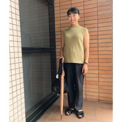 【妊娠7カ月】マタニティ服を使わない「ウエストゴム艶パンツ」コーデ