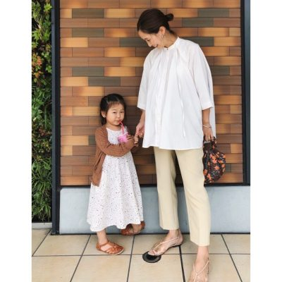 【臨月】ゴム使いで「マタニティパンツを使わない」妊婦コーデ