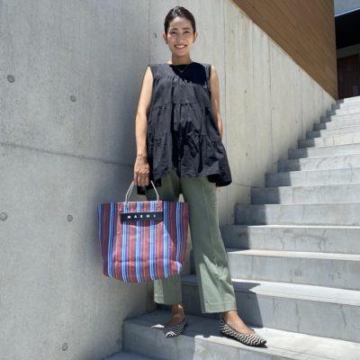 【妊娠7カ月】パンツコーデは「ユニクロ」をサイズアップ&2色買い