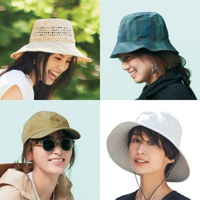 【帽子ありきの夏コーデ12選】キャップ、バケハ、麦わら帽etc.