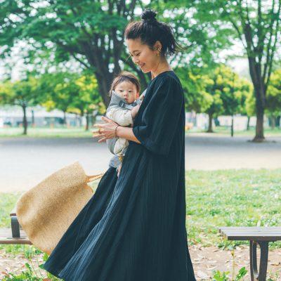 【産後ママのワンピスタイル3選】選び・着こなしに工夫がいっぱい