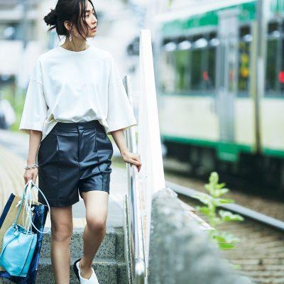 【大人のショートパンツコーデ】×Tシャツで若作りに見せない着こなしルール4