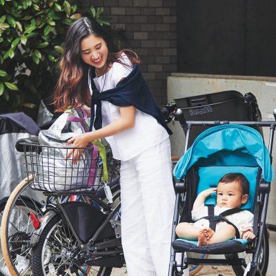 【ベビーカーSNAP】自転車デビューママは「サイベックスのリベル」のコンパクトさが◎