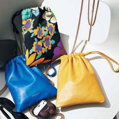 サンローランの「巾着バッグ」が夏の差し色に効果抜群!
