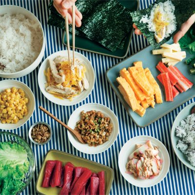 """ぐっち夫婦が教える""""手巻き寿司""""!コンビニ食材で子どもウケアイデア"""