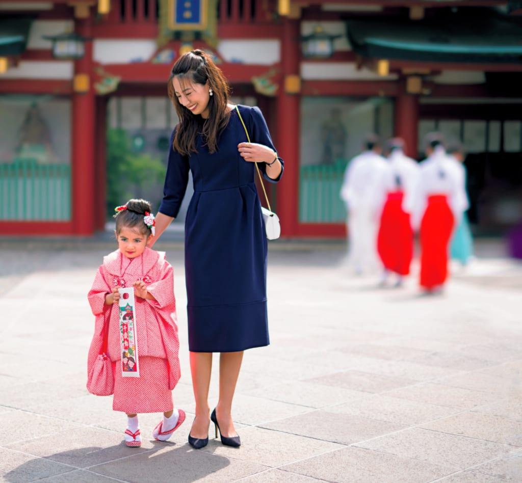 七五三 母親 服装 ワンピース