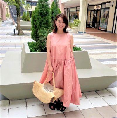 【妊娠8カ月】「切り替えボリュームワンピ」でメリハリ効果