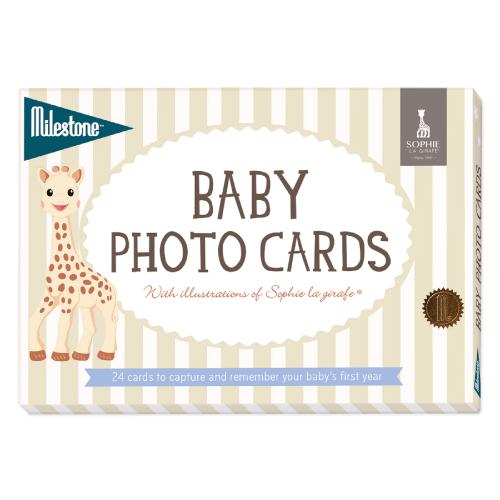 赤ちゃん ベビー 新生児 お祝い 出産祝い キリンのソフィー マイルストーンカード