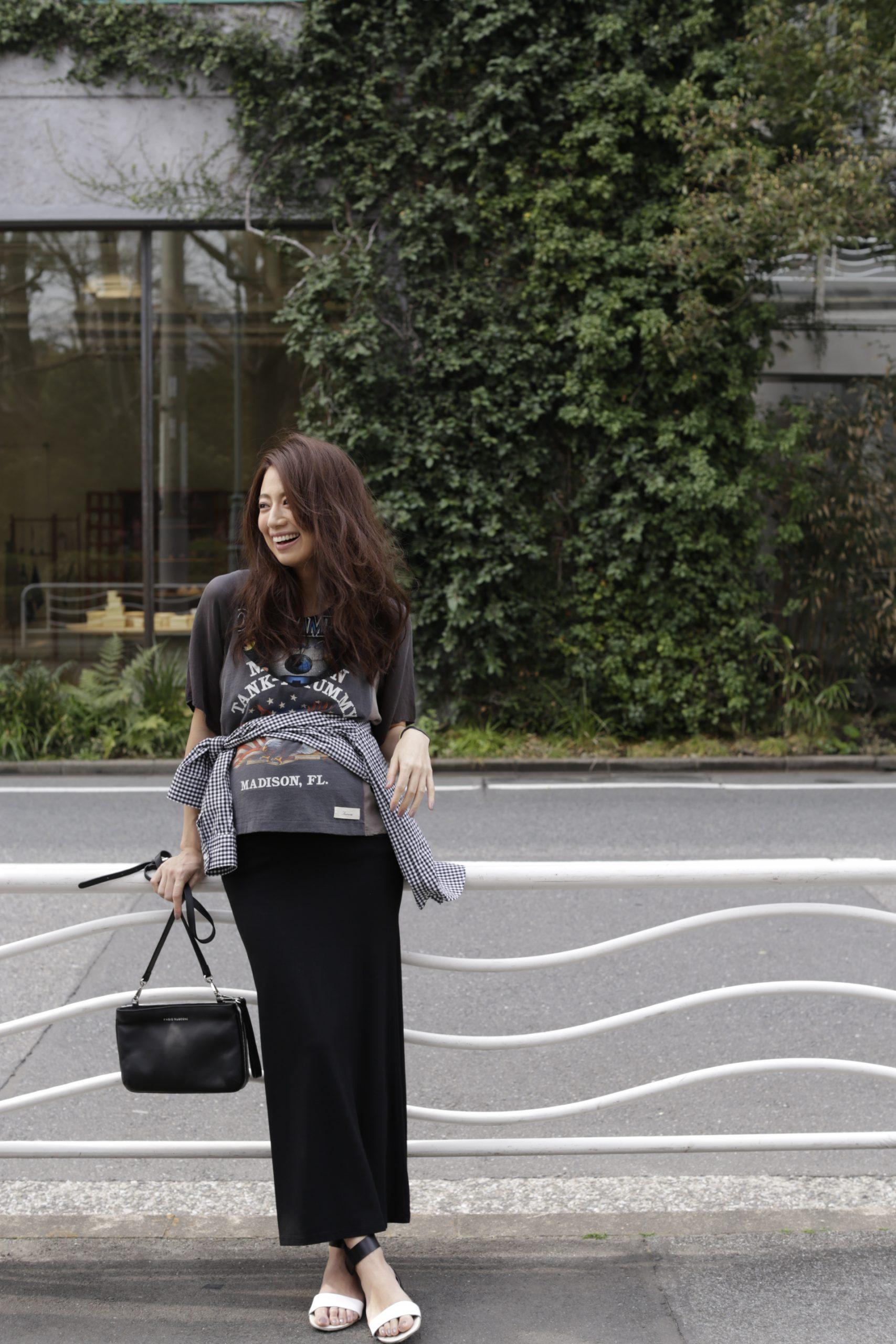 東原亜希 マタニティ ファッション