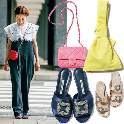 【モノトーン服×ブランド小物】yoriデザイナー・高橋誉子さんの華やかコーデの作り方