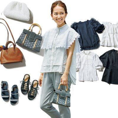 「大人可愛いカジュアル」の正解は?yori外村久美子さんのヘビロテ服と小物12選