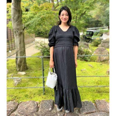 【妊娠9カ月】「ふんわり袖&ウエスト切り替えワンピ」で体形カバー