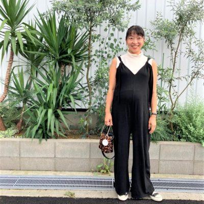 【妊娠9カ月】LサイズのZARAのオールインワンなら長く着られる!