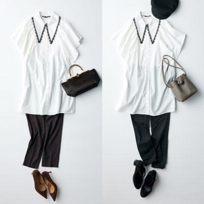 【ZARA】の甘襟「ミニワンピ」、30代はチュニック的着こなしがおすすめ
