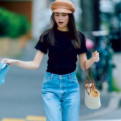 【矢野未希子さんのプライベート服】パンツコーデのこなれバランス