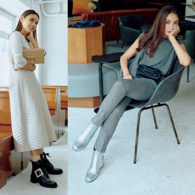 滝沢眞規子さん秋のヘビロテブーツは2種類「シルエットとボリュームに着目」