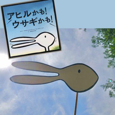 絵本を読んだら作って遊ぶ!『アヒルかも! ウサギかも!』
