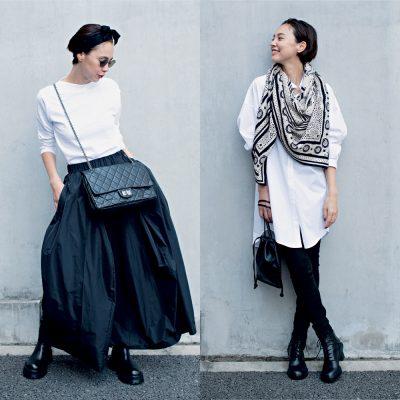 【エルメス、シャネルetc…】ブランド小物でこなれる!黒×白コーデ4選