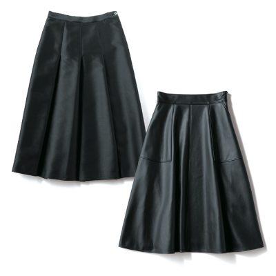 モノトーン好きなら『黒スカート』を更新!鮮度が上がる大人デザイン4選