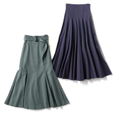 """実は""""深い緑や紫""""が万能!大人っぽくはける秋色スカート4選"""
