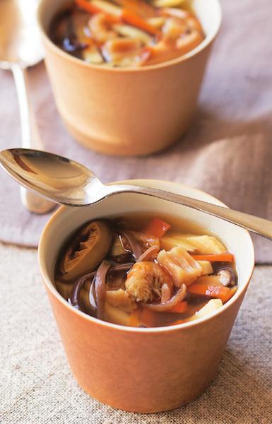 お花見に!旨味たっぷり中華風スープ