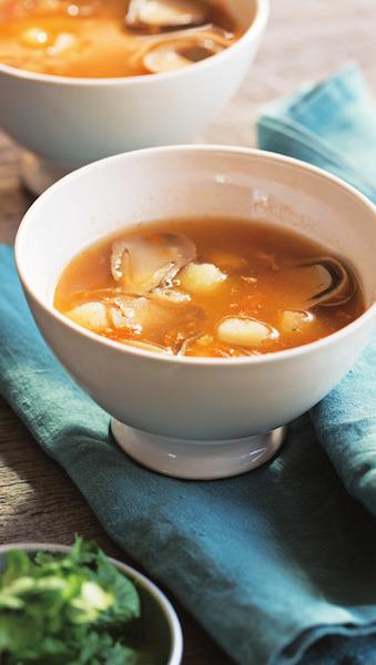 激辛!干し海老とじゃがいものトムヤンクン風スープ